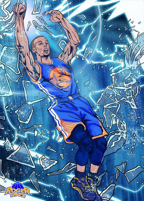 538aaf236a8c Stephen Curry  Rainmaker  Illustration - Hooped Up