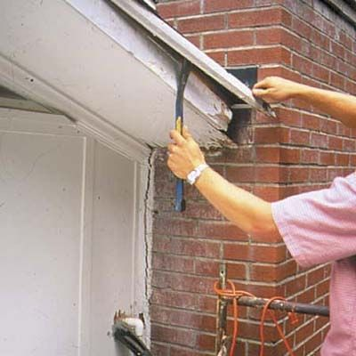 How To Repair A Rotted Soffit Exterior Remodel Diy