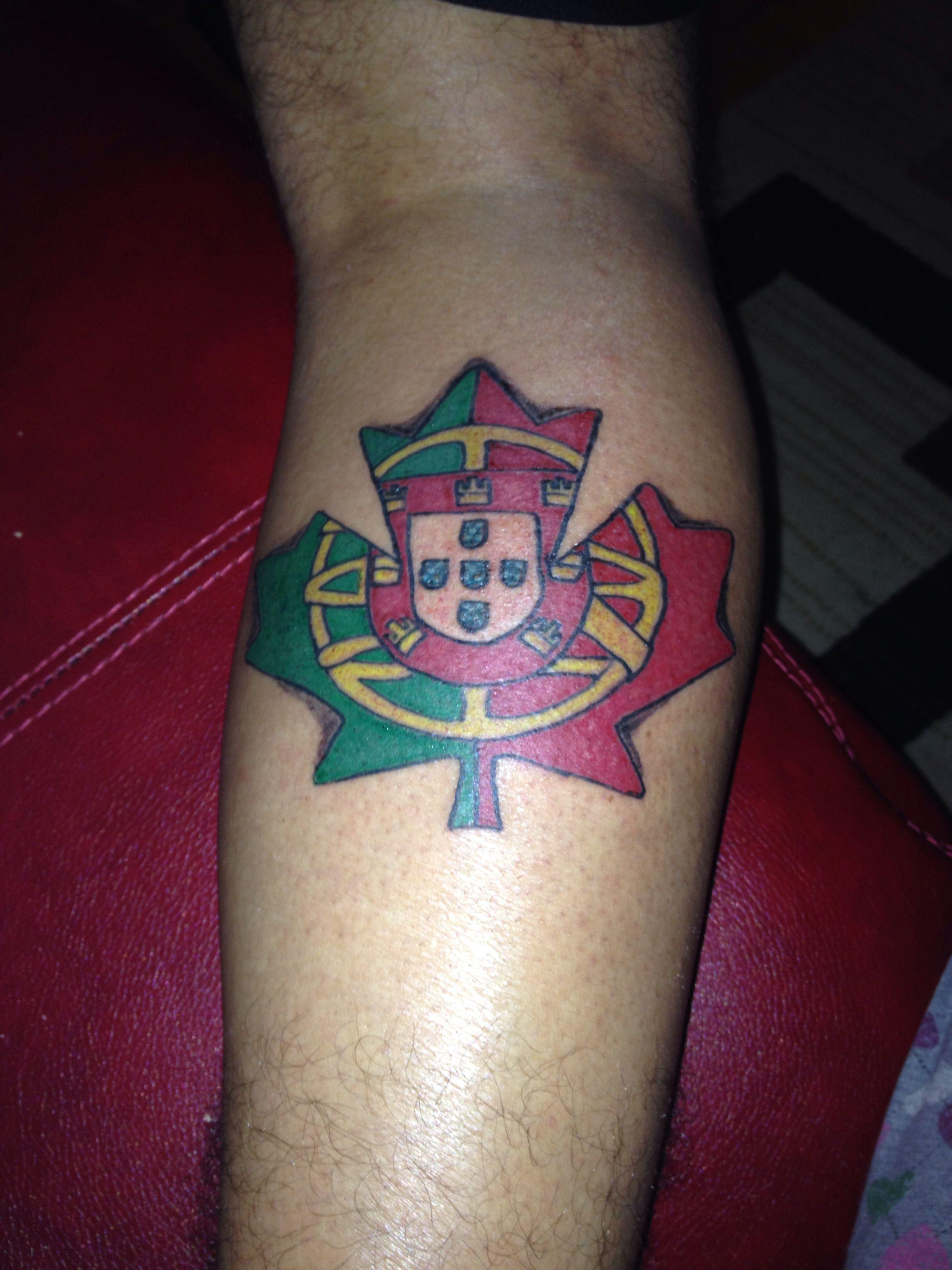 Portugese Canadian Tattoo I Love This Canadian Tattoo Tattoos Tatoos