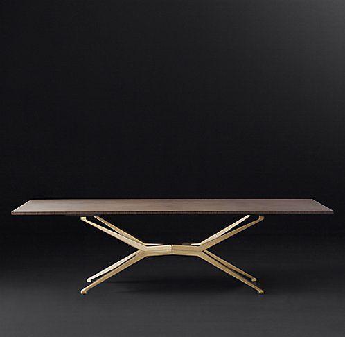 Maslow Spider Rectangular Dining Table RH Modern Furniture - Rh modern dining table