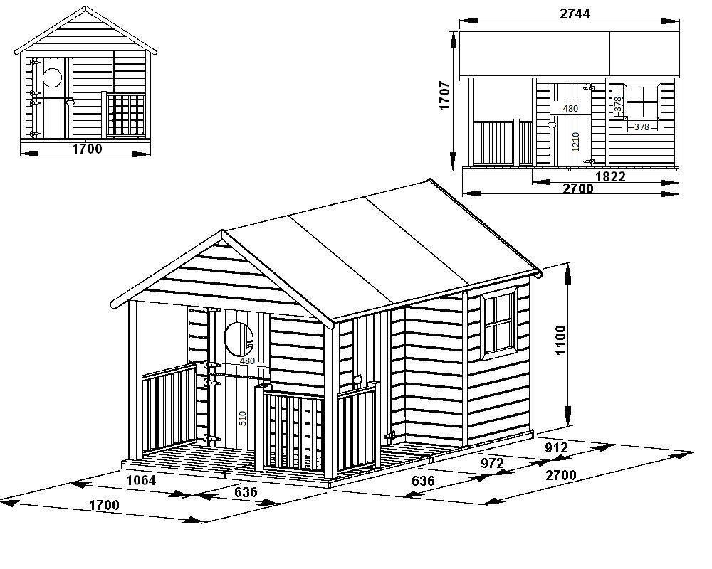 Charmant Cabane Enfant Plan Maisonnette Cabane Bois Ins Avec Toit Et Terrasse  Oogarden With Construire Maisonnette En Bois Grandes Images