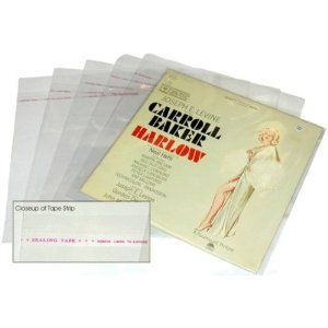 """100 Plastic RESEALABLE Outer Sleeves for 12"""" Vinyl Records #12SB02RSIM - Protect the Record Jacket & Protect Against Dust! (Albums / Outersleeves) (Electronics)  http://flavoredbutterrecipes.com/amazonimage.php?p=B001DKIBDO  B001DKIBDO"""