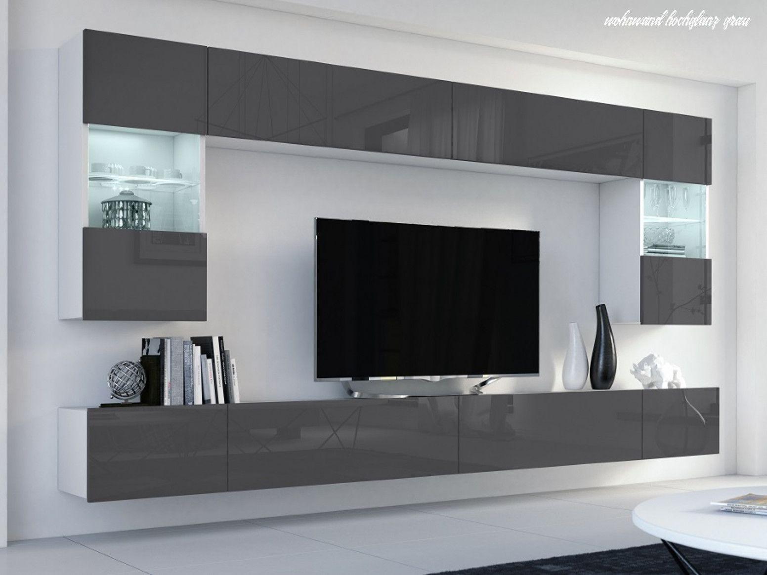 Mit Dieser Wohnwand Inclusive Led Beleuchtung Verleihen Sie Ihrem Wohnzimmer Ein Ambiente Mit Klarer Linienfuhrung Die Schwarz Lacki Home Furniture Home Decor