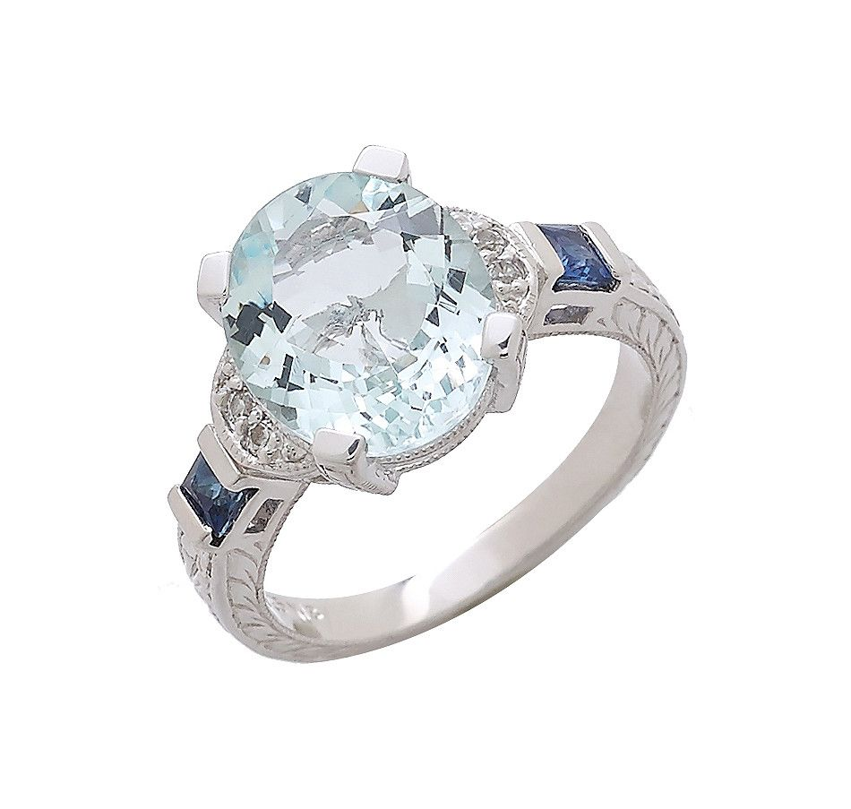 Generations 1912 Aquamarine Sapphire Sterling Silver Ring