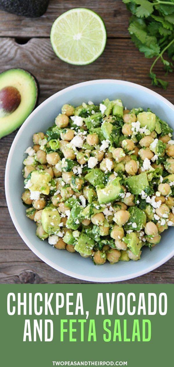 Chickpea, Avocado, Feta Salad {10 Minutes} - Two Peas & Their Pod