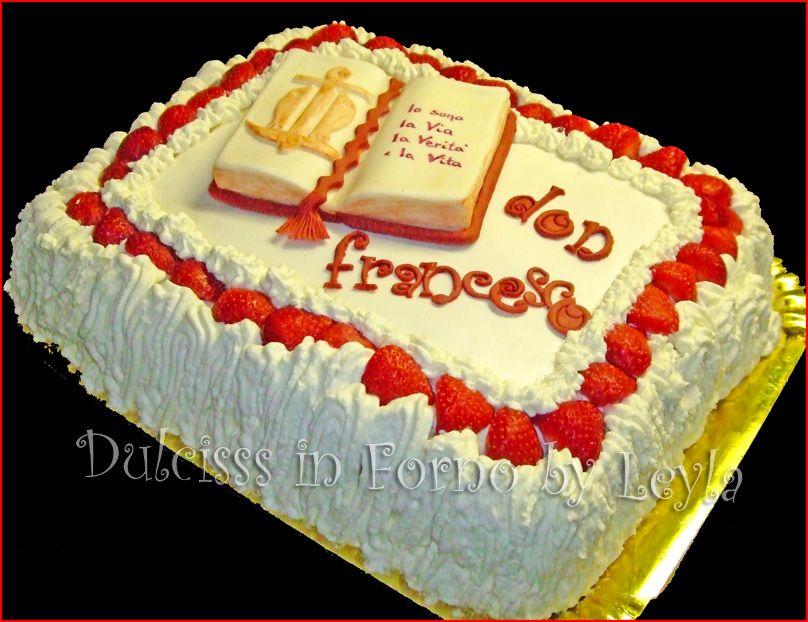 Connu Torta per sacerdote e la sua Prima Messa,decorata in pasta di zucchero BV09