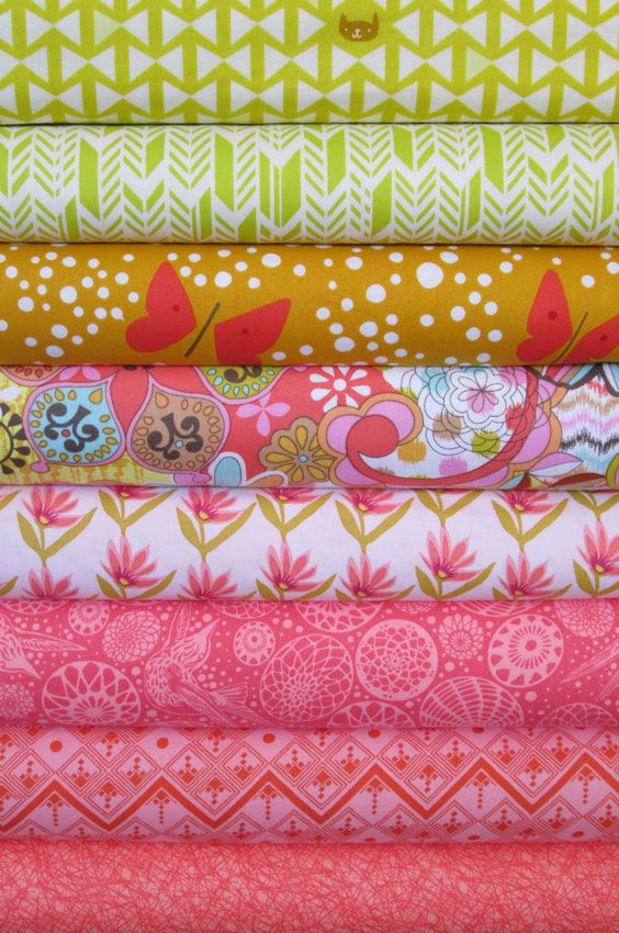 Fabricworm Custom Bundle, Spring Has Sprung in FAT QUARTERS 8 Total