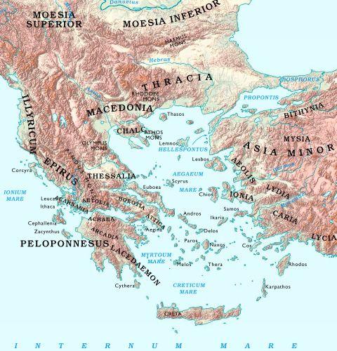 Map Of Asia Minor And Mediterranean Sea Region Bible Maps Pinterest