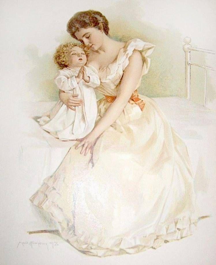 Винтаж для мамы открытки, картинки