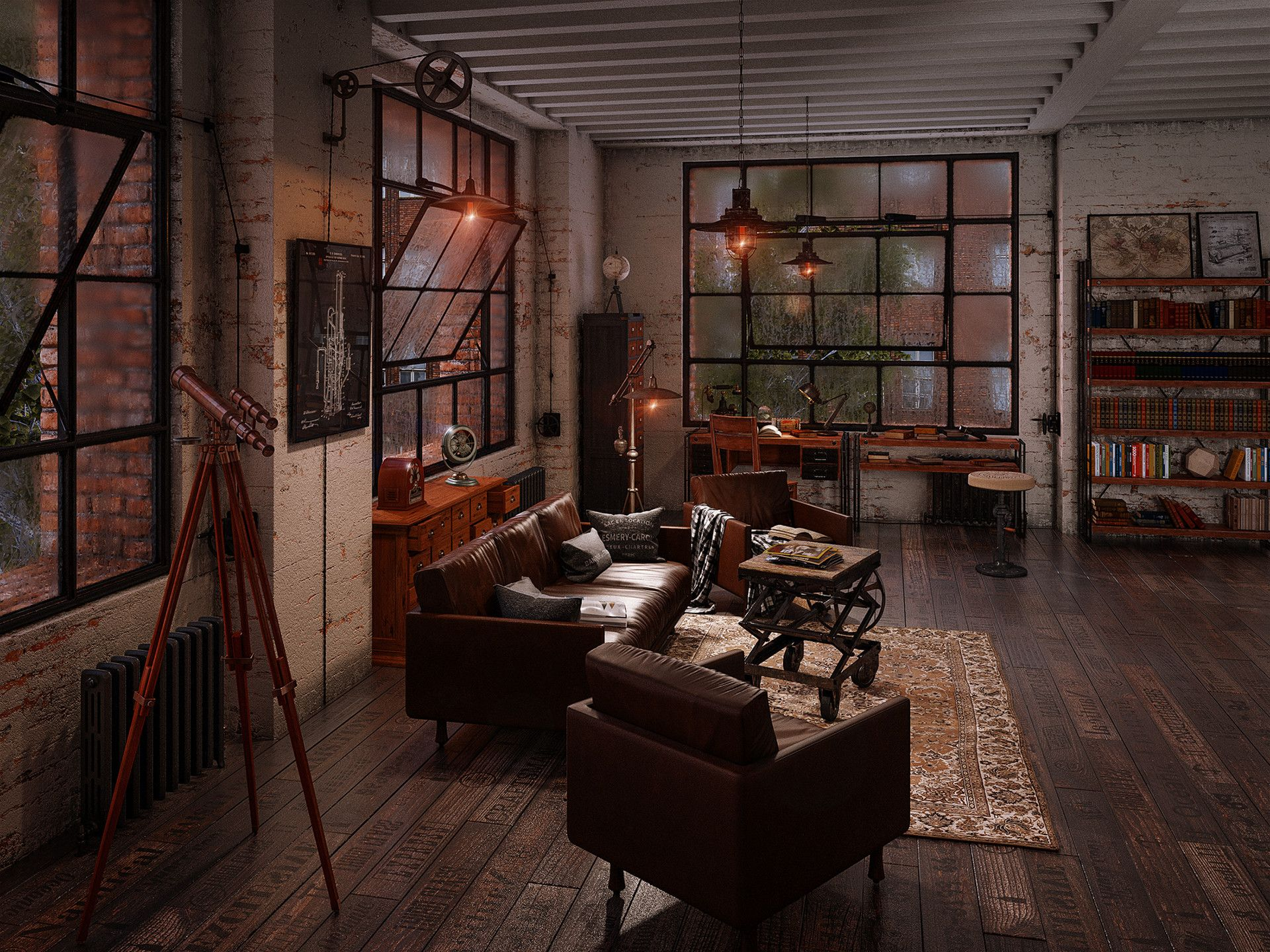 ArtStation - Industrial loft, Igor Pasechnik