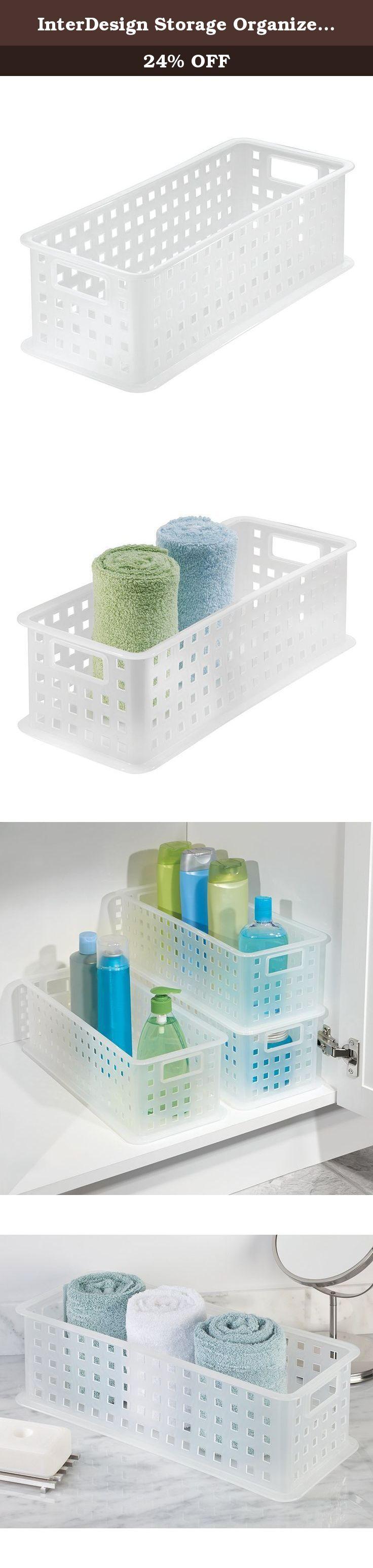 InterDesign Storage Organizer Basket, for Bathroom, Health and ...