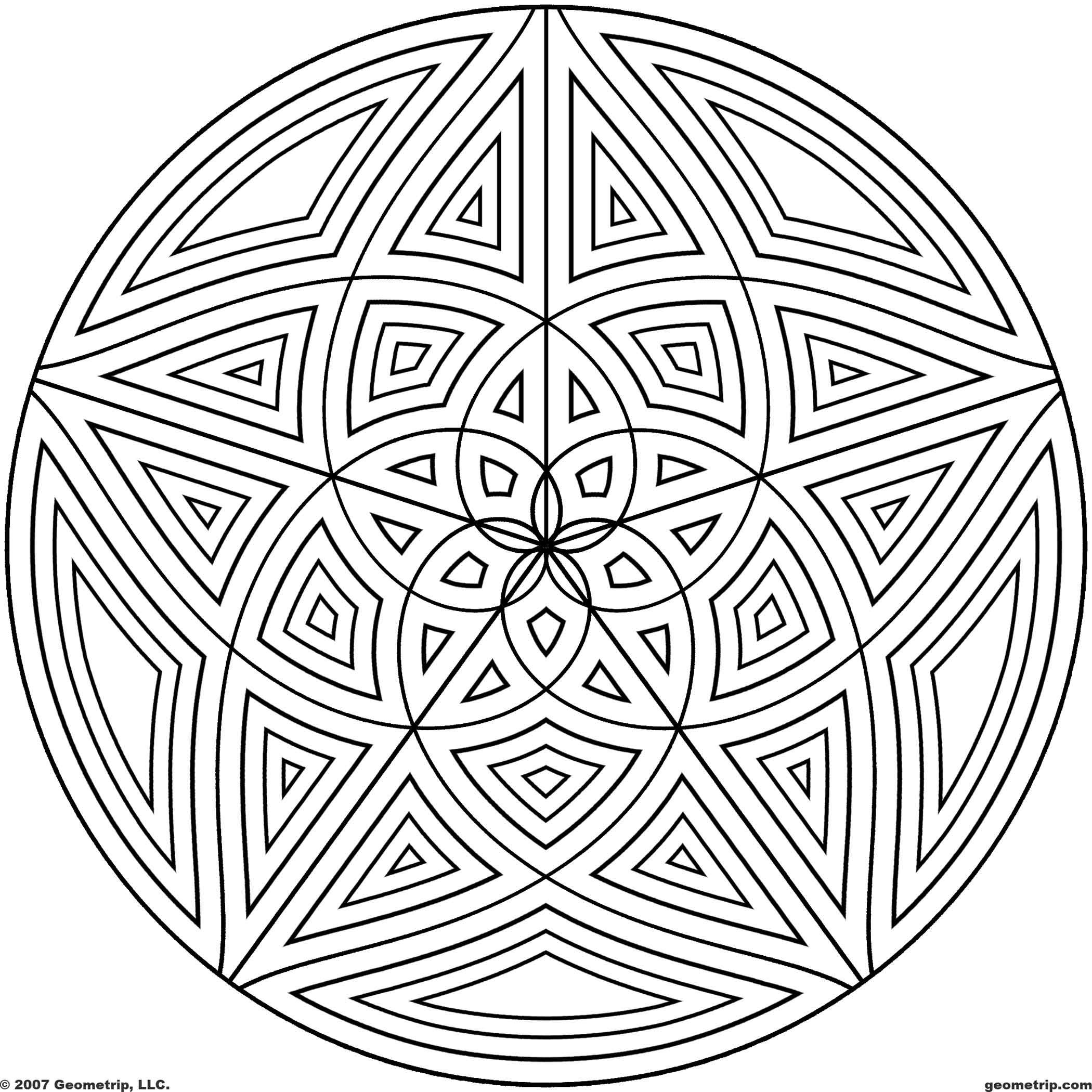 coloring pages of cool designs circles page 3 of 5 coloring