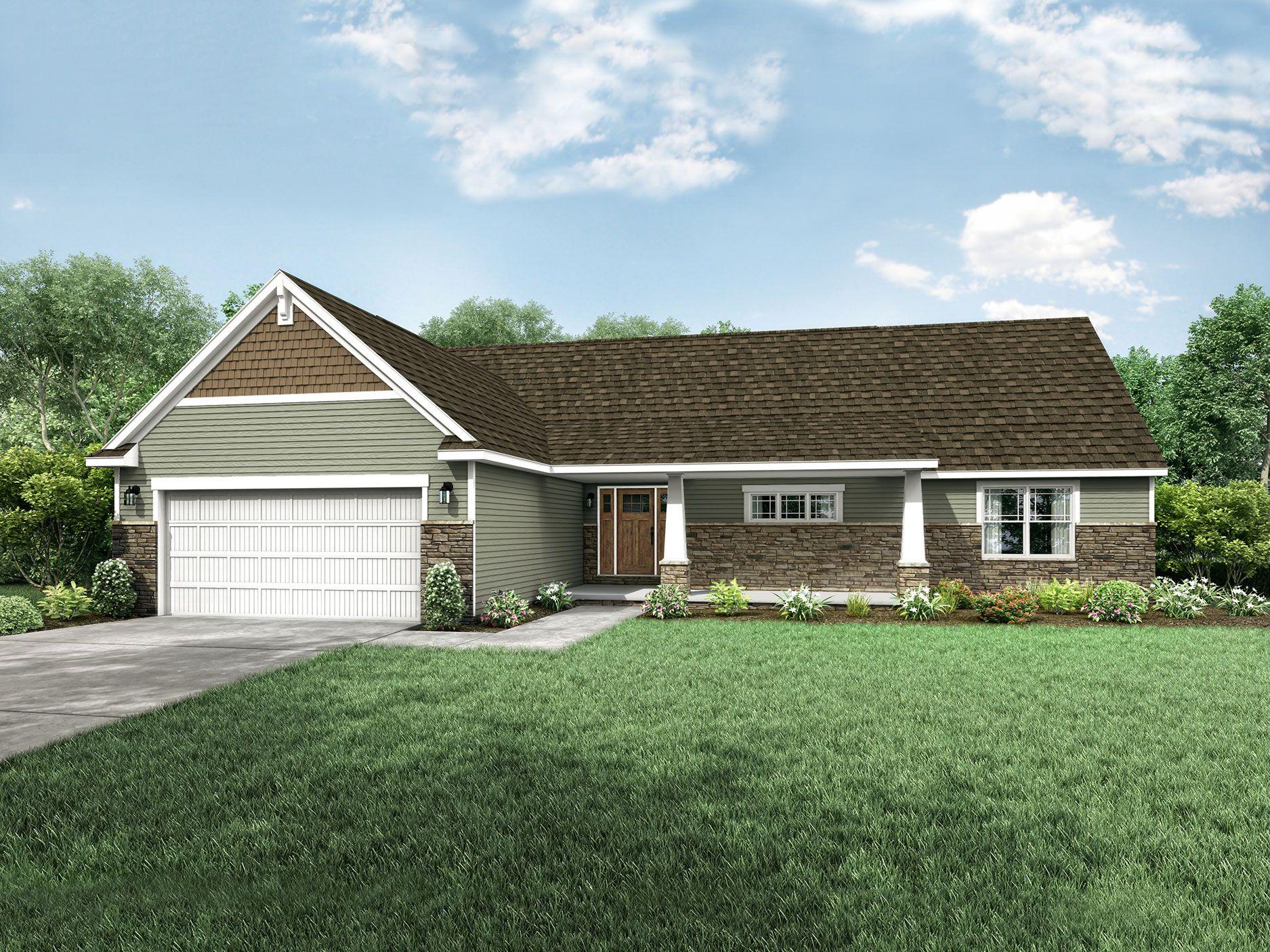 Hanover Floor Plan Ranch Custom Home Floor Plans Wayne Homes
