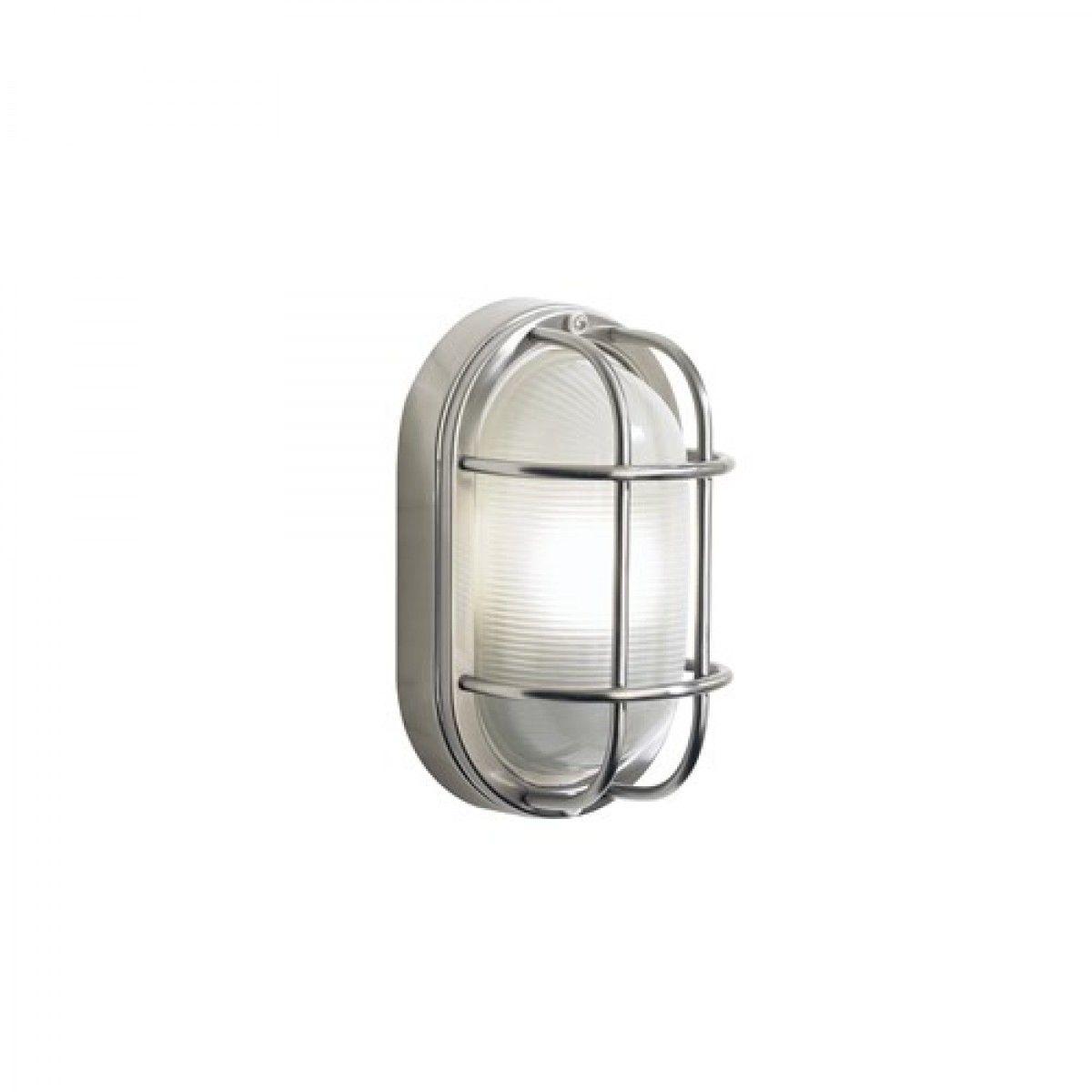 Dar salcombe small oval steel outdoor wall light sal light