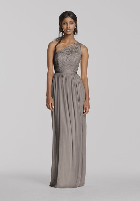 David S Bridal Collection Style F17063 One Shoulder Bridesmaid Dress