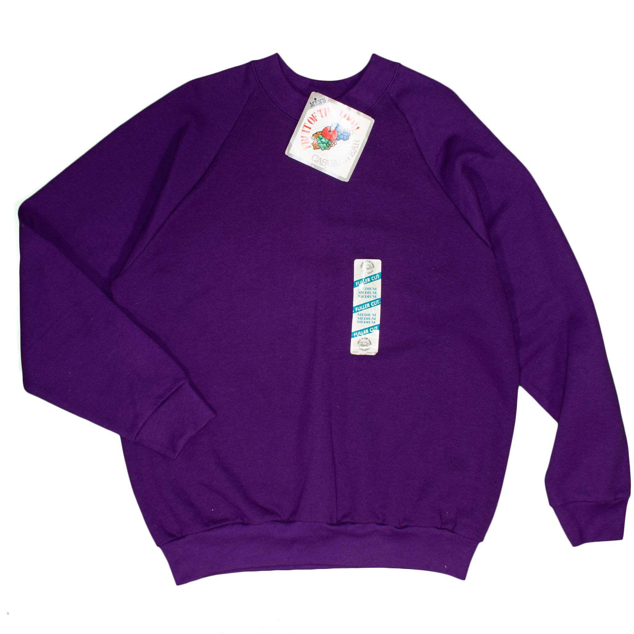 Fruit of the Loom Men's Sweatshirt 90's Vintage Purple