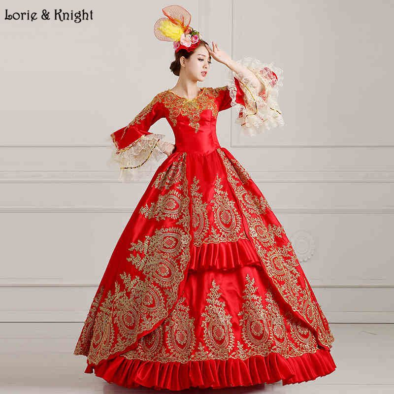 Queen Marie Antoinette Inspired #Masquerade Dress Princess #Royal Ball Gown/Stage Costume RED