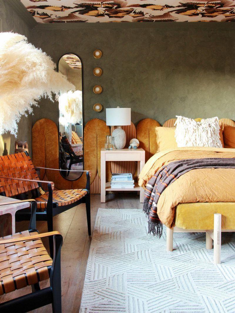 Best Home Decor Hashtags 32 marigold velvet headboard bedroom ...