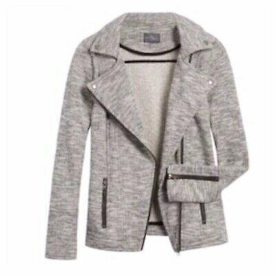 Women's Stitch Fix Market & Spruce French Terry Zip Front Moto Jacket Size Large | eBay