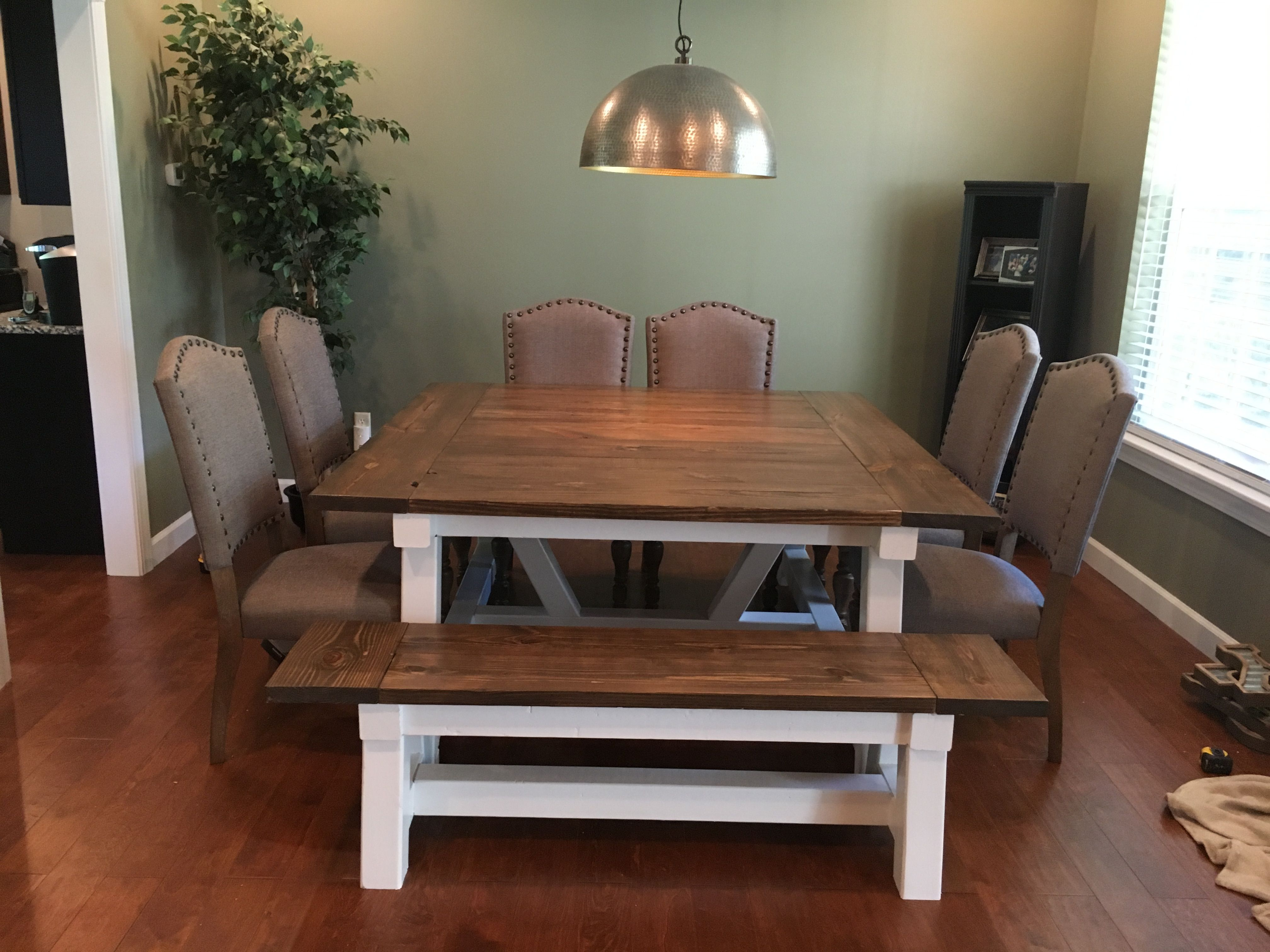 ana white square farmhouse table diy projects farmhouse dining table square farmhouse on farmhouse kitchen table diy id=51376