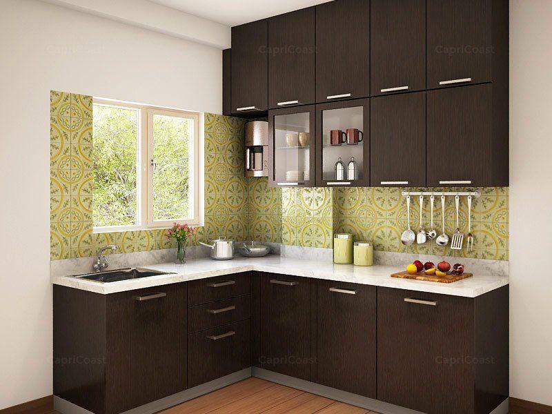 Munnar Lshaped Modular Kitchen Designs India HomeLane in ...