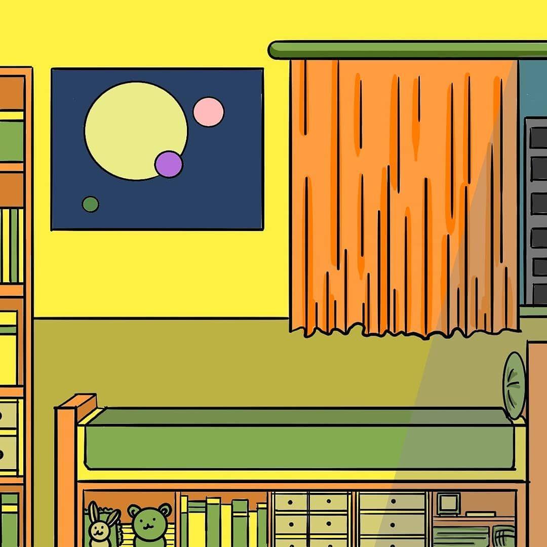[세번째 그림]  #일러스트 #일러스트레이터 #일러스트그램 #illustration #그림 #그림쟁이 #그림스타그램 #그림그림 #그림계정 #그림계정맞팔 #방 #일상 #일상스타그램 #주황 #주황색 #녹색 #일상스타그램