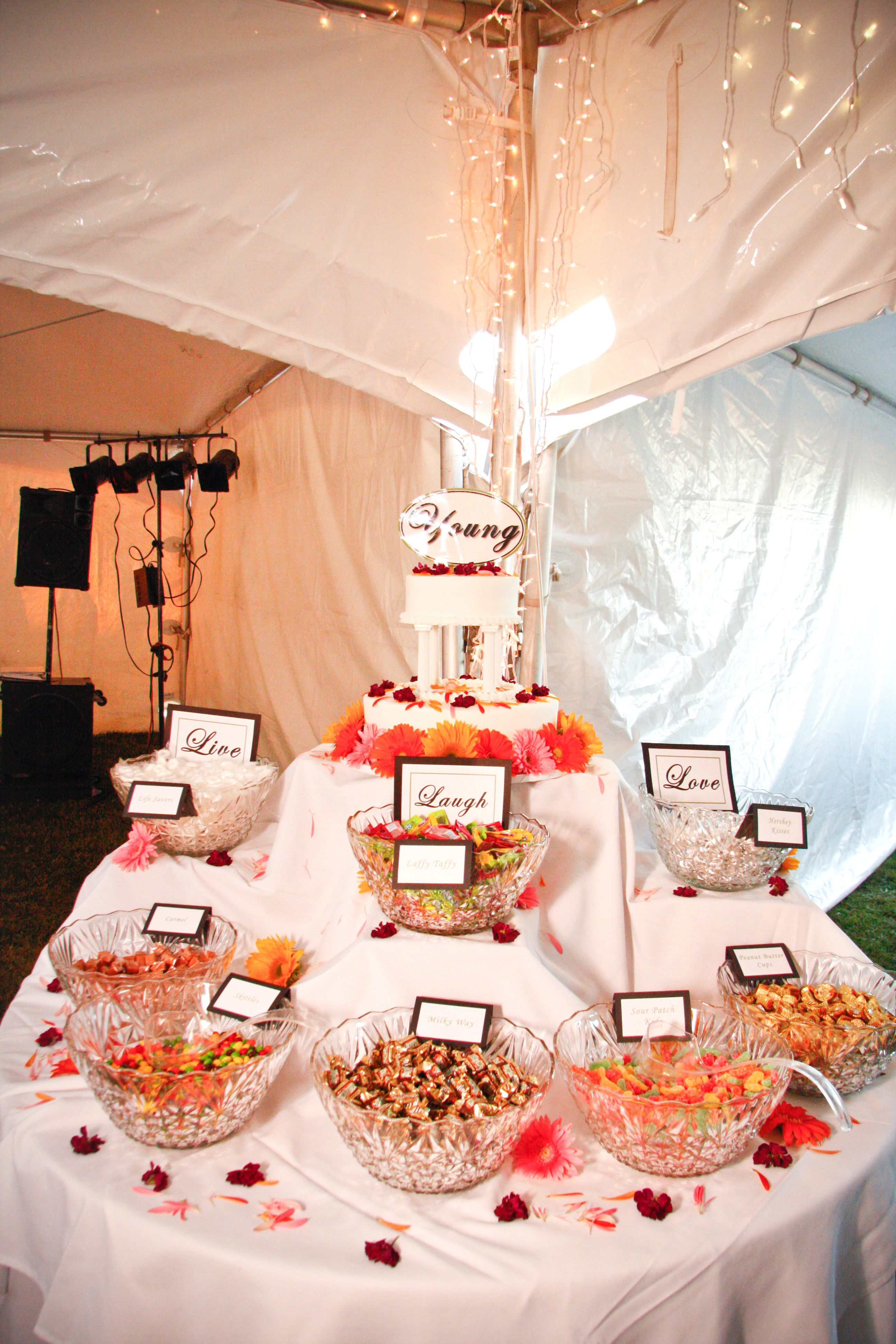 Dessert Table Candy Bar Live Laugh Love Theme Life Savers