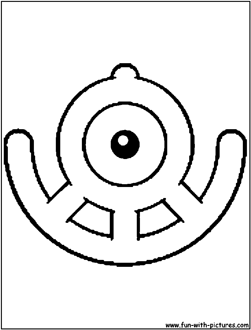 Unown U Coloring Page Coloring Pages Color Colouring Pages