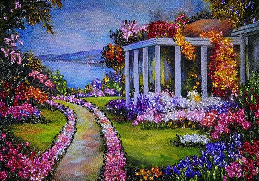 Dipinti Murali E Pittura Ad Ago : Dipingere con ago e filo curiosità pinterest dipingere filo e