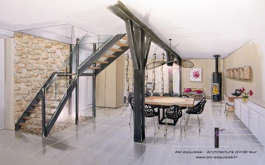 perspective la main de la salle manger deco. Black Bedroom Furniture Sets. Home Design Ideas