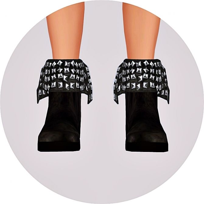 Turn-down collar stud ankle boots for males at Marigold via Sims 4 Updates