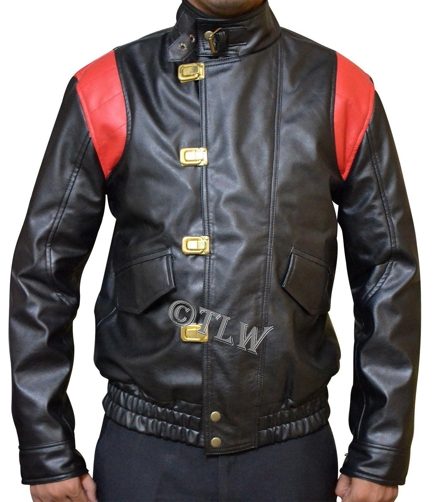Details About Black Red Akira Kaneda Leather Jacket With Capsule Text Manga Akira Otomo Leather Jacket Black Leather Jackets [ 1600 x 1378 Pixel ]