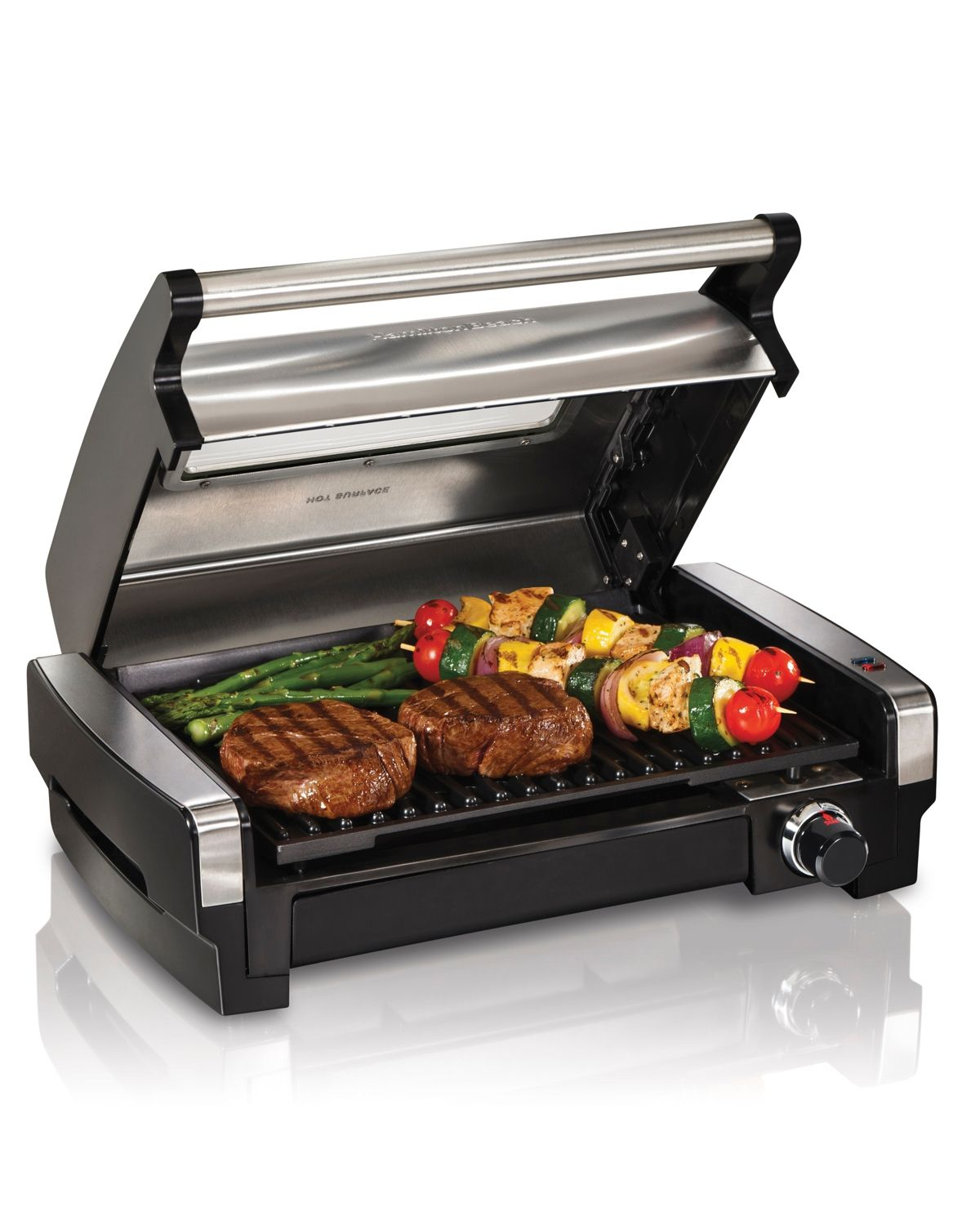 Hamilton Beach Searing Grill Black In 2020 Indoor Electric Grill Cooking Area Bbq Kitchen