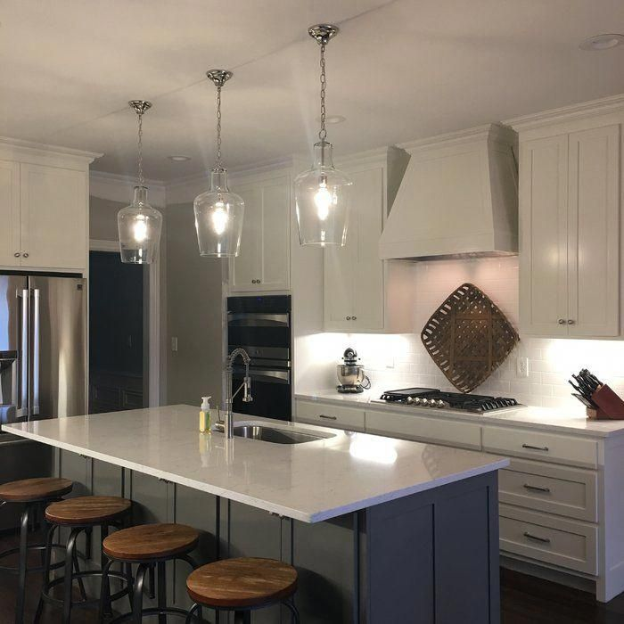 Small Kitchen Designs Carey 1 Light Cylinder Pendant