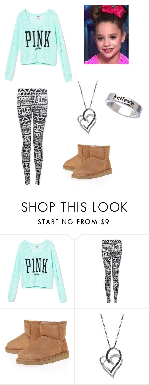 """Cute Mackenzie Ziegler Outfit"" by dance-moms-fan101 ❤ liked on Polyvore featuring Victoria's Secret PINK, Forever, UGG Australia, Lord & Taylor and Erica Anenberg"