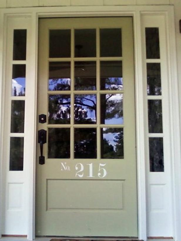 Cottage Style Door W Decal Numbers So Pretty Httphgtv