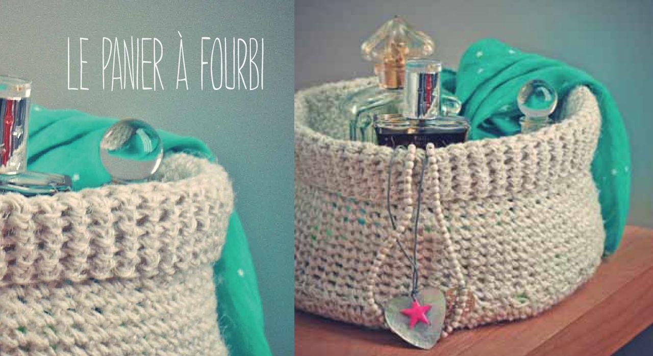 Je tricote un panier de rangement en fil de lin | Panier rangement, Fil de lin et Modèle de ...