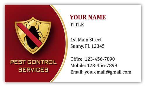 Pest Control Business Cards Visit Carte De Visite Bed Bugs Treatment