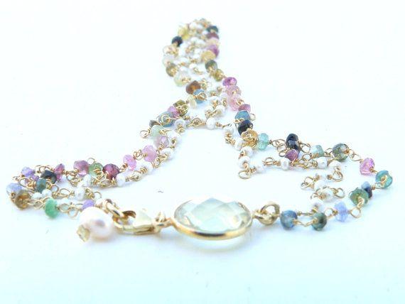 Les Minimalistes necklaces di LeCullane su Etsy