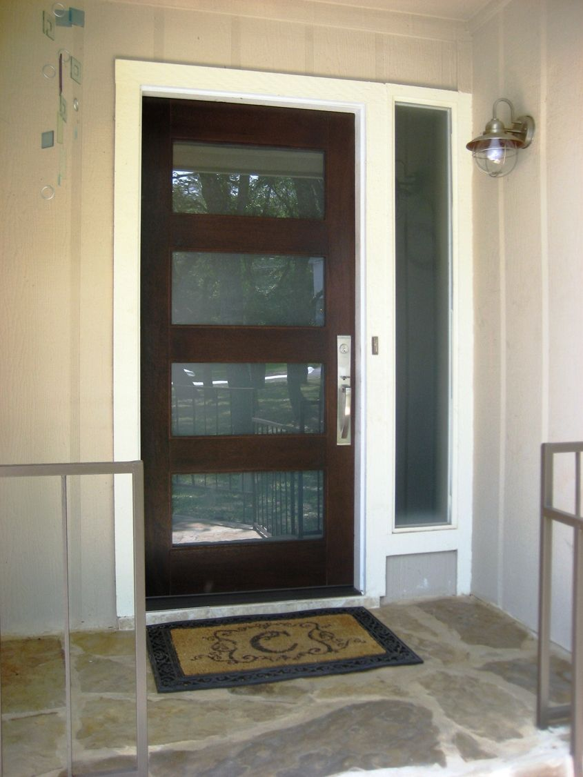 modern glass entry doors. Modern Wood And Glass Front Doors Entry 6