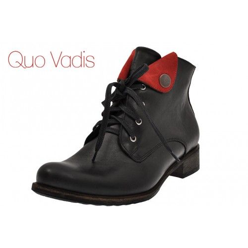 Botki Nessi 58104 Czarne Czerwone Boots Timberland Boots Wedge Boot