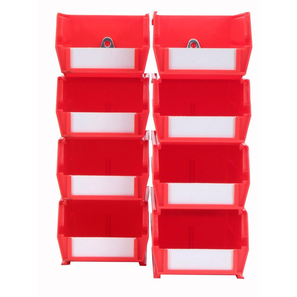in w x in h red wall storage bin organizer piece red