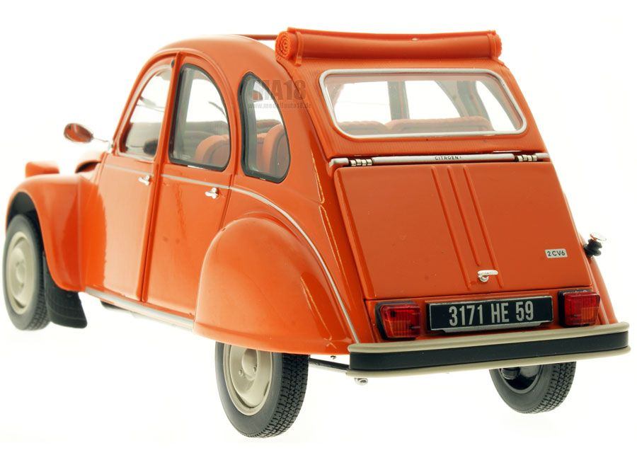 Citroen 2cv 6 Orange 1975 Norev 1 18 Toy Model Cars Citroen 2cv Miniature Cars