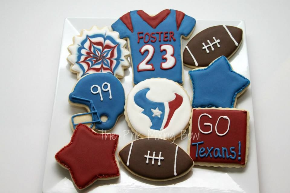 Texans cookies by The Pink Mixing Bowl!