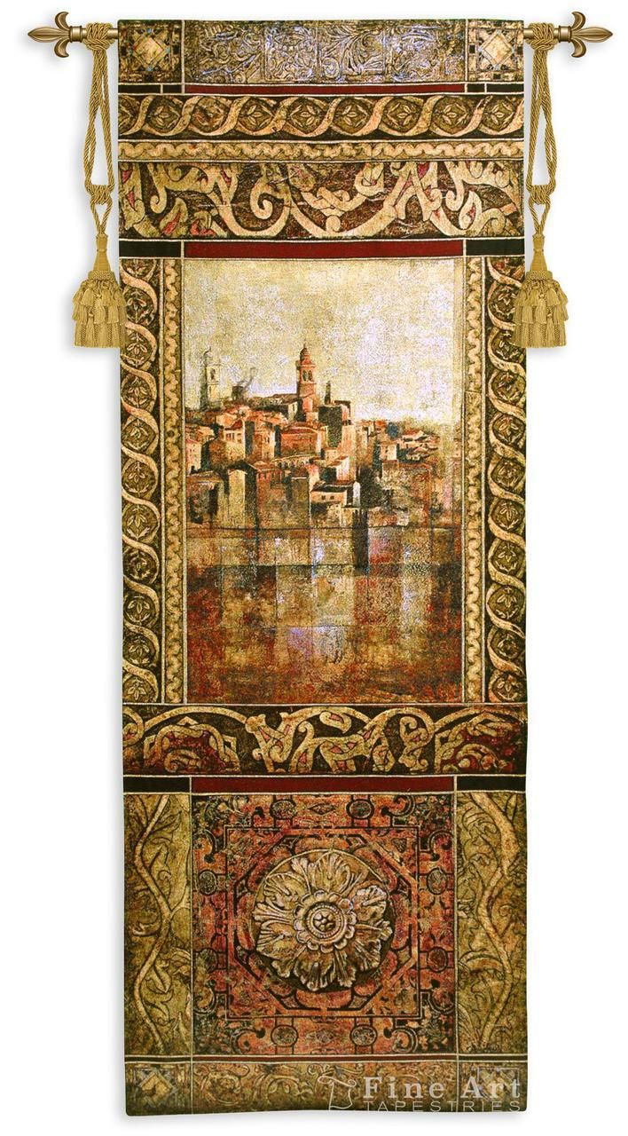1 Of 2 Complimentary Hangings New Enchantement I Tapestry Wall Hanging Castle Picture Picture H69 X W25 Tapestry Wall Hanging Fine Art Tapestries Tapestry