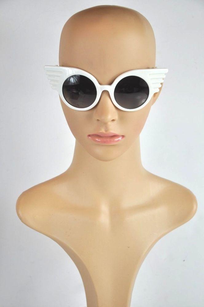 8f14b92a735 LINDA FARROW FOR JEREMY SCOTT White Wing Sunglasses   LINDAFARROWFORJEREMYSCOTT  Wings
