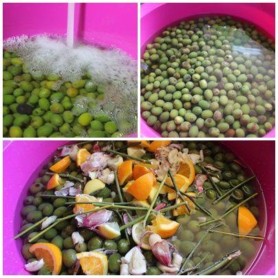 como curar aceitunas verdes sin sosa