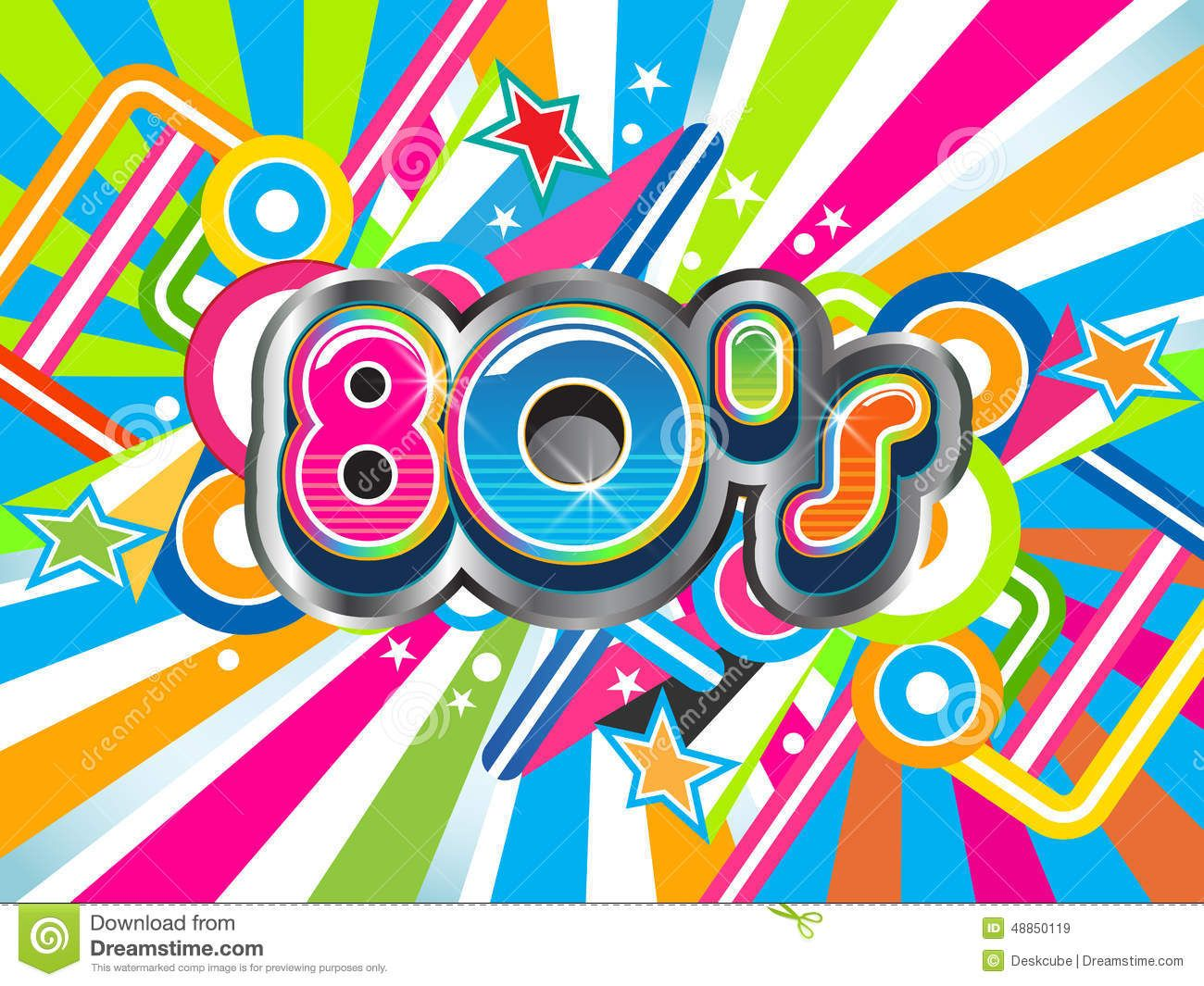 time travel party theme   Festive 80s theme party background