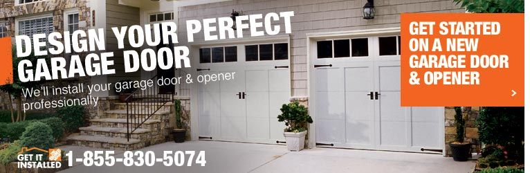Carriage Garage Doors The Home Depot Get The Hardware And Add Trim Garage Door Opener Installation Garage Doors Garage