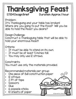 Thanksgiving STEM Activities | November STEM Activities #stemactivitieselementary